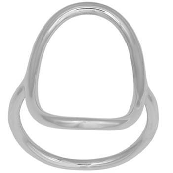 Nordahl Soft52 sterling sølv fingerring med blank overflade, 27 mm