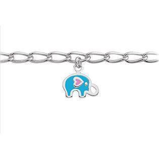 0a70c72809b SmykkeLine 925 sterling sølv armbånd, blå elefant med blank overflade,  model 15023616