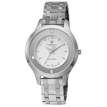 Christina Collection Womens Collect smykke ure blank stål Schweizisk quartz dame smykkeur