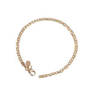 153c1bca0a1 L & G 8 kt. rødguld armbånd, Kæde med blank overflade, model 406703