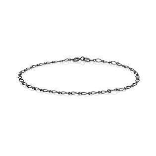 Blicherfuglsang  Sterling Sølv armbånd sort oxideret, model 409000X