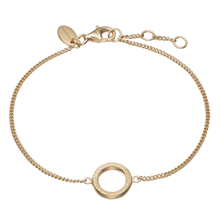 Christina Collect Sterling sølv armbånd, Magic Circle med forgyldt overflade, model 601-G16
