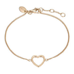 Christina Collect Sterling sølv armbånd, Magic Heart med forgyldt overflade, model 601-G17