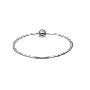 Christina Collect Sterling sølv armring, Charms Bangle med blank overflade, model 601-4-S