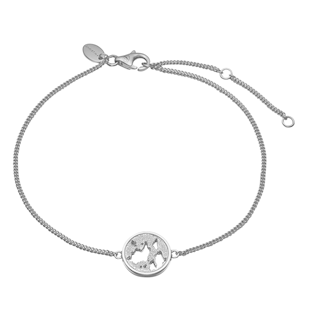 Christina Collect Sterling sølv armbånd, The World med blank overflade, model 601-S13