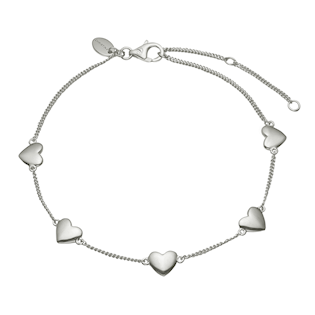 Christina Collect Sterling sølv armbånd, Forever Love med blank overflade, model 601-S14