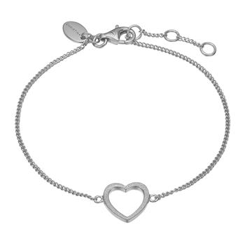 Christina Collect Sterling sølv armbånd, Magic Heart med rustik overflade, model 601-S17