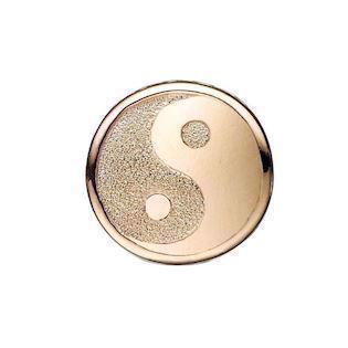 7cdf1e32f25 Christina Collect forgyldt sølv Ying Yang charm til sølvarmbånd, Sparkling  Ying Yang med rustik overflade
