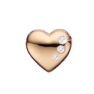 629bff2922b Christina Collect forgyldt sølv hjerte med topas charm til sølvarmbånd,  Petite Secret Hearts med rustik