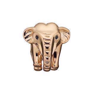 0729ba4d01a Christina Collect forgyldt sølv elefant charm til sølvarmbånd, Petite  Elephant med blank overflade, model
