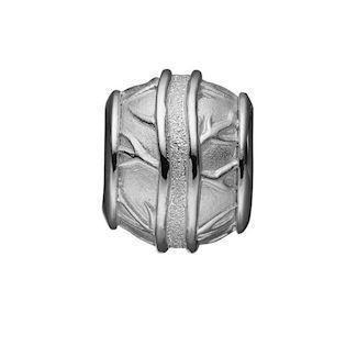 166e999e2e1 Christina Collect sølv kugle charm med blad mønster til sølvarmbånd, Wild  Leafs med rustik overflade