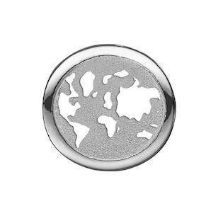 0968f2aa86e Christina Collect sølv rund verdens charm til sølvarmbånd, World Explorer  med rustik overflade, model