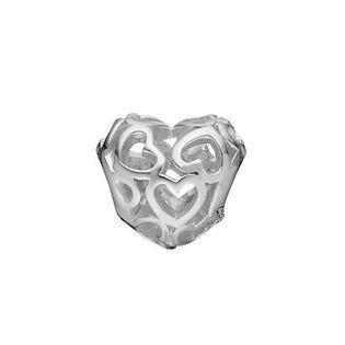 96adeda63ec Christina Collect sølv hjerte charm til sølvarmbånd, Petite Heart Beat Love  med blank overflade,