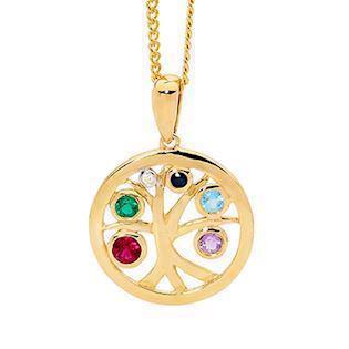 Bee Jewelry Tree of Life 9 kt guld Vedhæng blank, model 65618-Multi