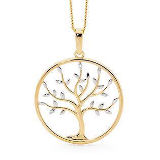 Bee Jewelry Tree of Life 9 kt guld Vedhæng blank, model 65681