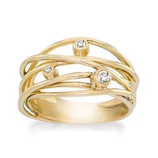 5d800c5524b Rabinovich Sparkling Dream GOLD collection 14 karat guld Fingerring blank,  model 70350350