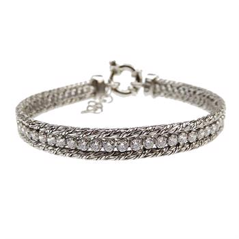 San - Link of joy Round Knitted Foxtail 925 Sterling Sølv Armbånd blank, model 76805-A