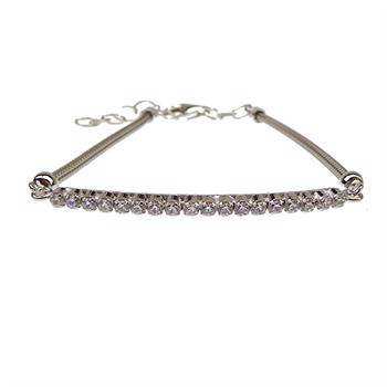San - Link of joy Round Knitted Foxtail 925 Sterling Sølv Armbånd blank, model 77005-A