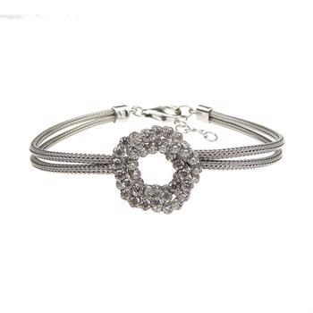 San - Link of joy Round Knitted Foxtail 925 Sterling Sølv Armbånd blank, model 77705-A