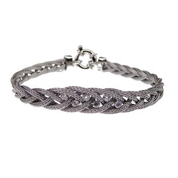 San - Link of joy Round Knitted Foxtail 925 Sterling Sølv Armbånd blank, model 77805-A