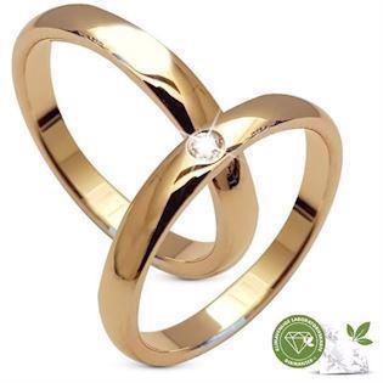 a9992289bd3 Aagaard 8 karat guld Vielsesringe med 0,03 ct klimavenlige diamanter