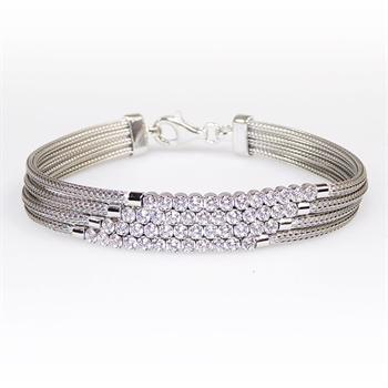 San - Link of joy Round Knitted Foxtail 925 Sterling Sølv Armbånd blank, model 89505-A