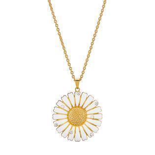Lund Copenhagen, 36 mm Marguerit 925 sterling sølv Collier 24 karat forgyldt, model 9025000-30-M