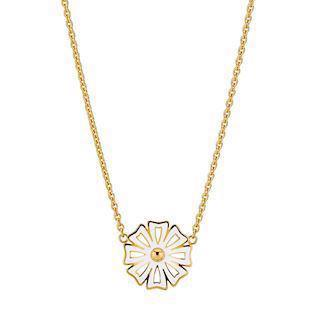Lund Copenhagen 20 mm Marguerit Kontur 925 sterling sølv Collier 24 karat forgyldt, model 9025005-M