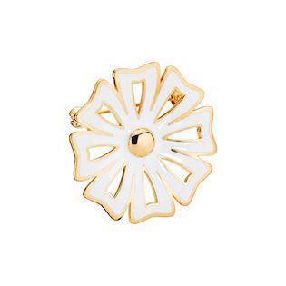 Lund Copenhagen 30 mm Marguerit Kontur 925 sterling sølv Broche 24 karat forgyldt, model 9045017-M