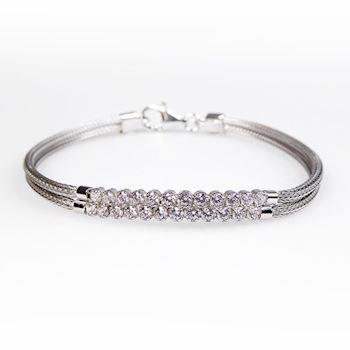 San - Link of joy Soft Foxtail Silver Design 925 sterling sølv armbånd rhodineret, model 97005-A