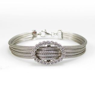 San - Link of joy Soft Foxtail Silver Design 925 sterling sølv armbånd rhodineret, model 97105-A