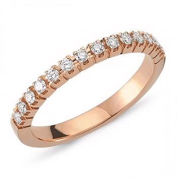 Nuran 14 kt rosaguld diamant alliance ring, fra Pera ringe serien med 0,21 ct diamanter Wesselton / SI