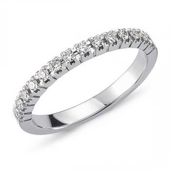 Nuran 14 kt hvidguld diamant alliance ring, fra Pera ringe serien med 0,21 ct diamanter Wesselton / SI