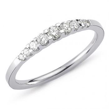 Nuran 14 kt hvidguld diamant alliance ring, fra Empire ringe serien med 0,24 ct diamanter Wesselton / SI