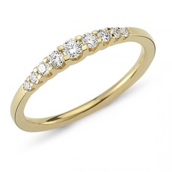 Nuran 14 kt rødguld diamant alliance ring, fra Empire ringe serien med 0,24 ct diamanter Wesselton / SI