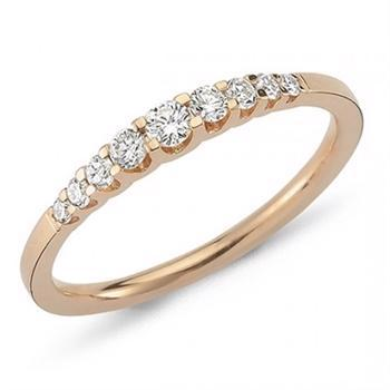 Nuran 14 kt rosaguld diamant alliance ring, fra Empire ringe serien med 0,24 ct diamanter Wesselton / SI