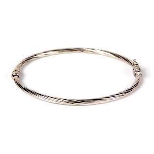 BeChristensen Adela Twisted Bangle SS 925 Sterling sølv armring blank, model BEC_7005