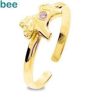 Bee Jewelry Girls First Gold Ring 9 kt guld fingerring blank, model 25294-CZP-K