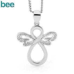Bee Jewelry Angel 925 Sterling Sølv Vedhæng Blank, model 35599CZ