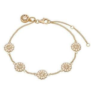 Christina forgyldt sølv 5 Marguerites kæde med margueriter og topazer 1da48fc539143