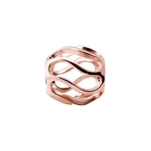 Christina Collect twist rosa forgyldt tubes / ring