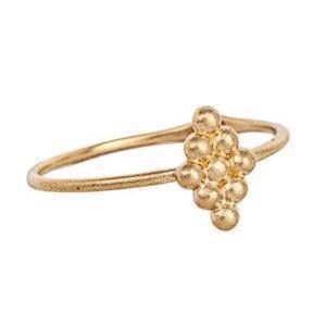 Carré My Precious 10 kt guld Fingerring matteret, model TR2195
