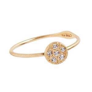 Carré Lady Luck 10 kt guld Fingerring matteret, model TR2383DI