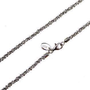 28c7390a6ae San - Link of joy DiamondCut Silver Design 925 sterling sølv kæde  rhodineret, model Dia