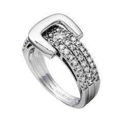 "Diamonfire ""b�lte"" fingerring i sterling s�lv med zirkonia"
