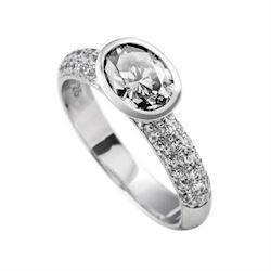 Diamonfire fingerring i sterling s�lv med zirkonia