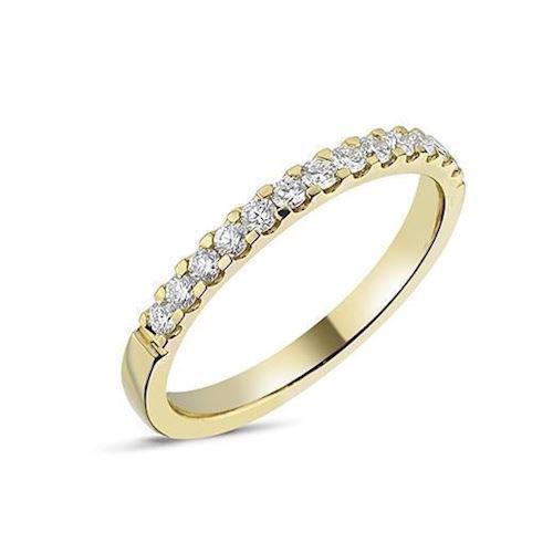 Memories by Nuran, 14 karat guld 2,25 mm ring med 13 x 0,02 ct brillanter, ialt 0,26 ct