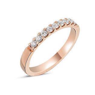 Memories by Nuran, 14 karat rosaguld 2,5 mm ring med 9 x 0,03 ct brillanter, ialt 0,27 ct