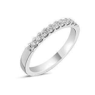 Memories by Nuran, 14 karat hvidgulds 2,5 mm ring med 9 x 0,03 ct brillanter, ialt 0,27 ct