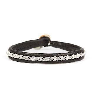 BeChristensen Malin Facet SS Black tin/sterling sølv armbånd , model BEC_5027-12